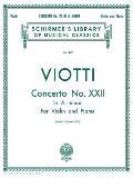 Concerto No. 22 in a Minor: Score and Parts