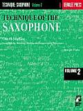 Technique of the Saxophone Volume 2 Chord Studies
