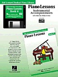Piano Lessons Book 4 - GM Disk: Hal Leonard Student Piano Library
