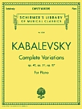 Complete Variations: Piano Solo