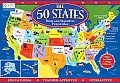 50 States Book & Magnetic Puzzle Map Readers Digest Learning With Magnetc States & Board