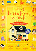 First Hundred Words German Sticker Book with Sticker (Usborne First Hundred Word Sticker Books)
