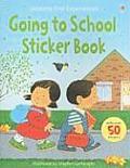 Going to School Sticker Book with Sticker (Usborne First Experiences)