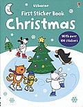 Usborne First Sticker Book: Christmas (Usborne First Sticker Books)