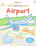 Airport Coloring Book with Stickers (Sticker Coloring Books)