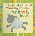 Baby's Very First Touchy-Feely Animals Book (Usborne Baby's Very First)