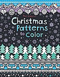 The Usborne Christmas Pattern to Color