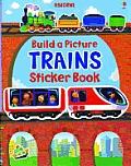 Build a Picture Trains Sticker Book