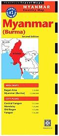 Myanmar Burma Travel Map