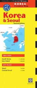 Periplus: Korea & Seoul Country Map (Periplus Travel Maps)
