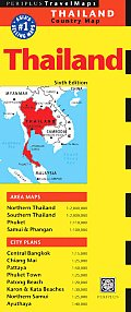 Thailand Travel Map Sixth Edition