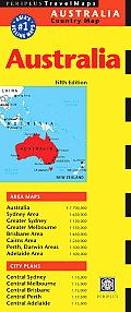 Australia Travel Map (Periplus Travel Maps) Cover