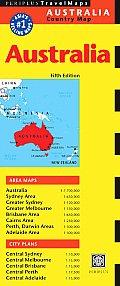Australia Travel Map 5th Edition