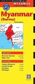 Myanmar Travel Map Third Edition