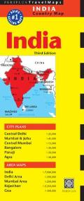India Travel Map 3rd Edition