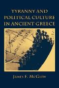 Tyranny and Political Culture in Ancient Greece: A Regional Perspective (1812-1846)