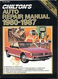 Chilton's Auto Repair Manual, 1980-87 - Perennial Edition (Chilton's Auto Service Manual) Cover