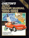 Chiltons Auto Repair Manual 1988 1992
