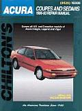 Acura Coupes and Sedans 1986-93 Rapair Manual