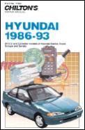 Hyundai, 1986-93: All U.S. and Canadian Models of Hyundai Elantra, Excel, Scoupe and Sonata