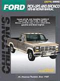Ford Pickups & Bronco 76 86 Repair Manua