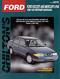 Ford Escort & Mercury Lynx Repair Manual 1981 1995