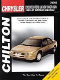 Chrysler Concorde Intrepid LHS New Yorker Vision Repair Manual 1993 1997