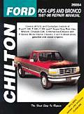 Ford Pick-Ups and Bronco 1987-96 (Chilton's Total Car Care Repair Manuals)