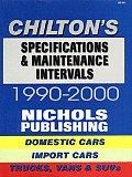 Specifications & Maintenance Intervals 1990 00