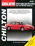 General Motors Century Lumina Grand Prix Intrigue Repair Manual 1997 2000 Includes Regal Monte Carlo Cutlass Supreme