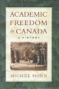 Academic Freedom in Canada A H
