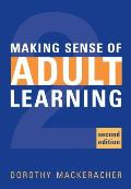 Making Sense of Adult Learning 2nd Edit Cover