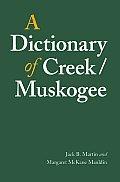 Dictionary Of Creek Muskogee