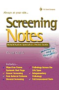 Screening Notes Rehabilitation Specialists Pocket Guide Waterproof