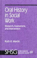 Oral History in Social Work: Research, Assessment, and Intervention