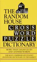 Random House Crossword Puzzle Dictionary