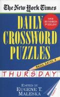 New York Times Daily Crossword Puzzles #2: The New York Times Daily Crossword Puzzles Thursday, Skill Level 4