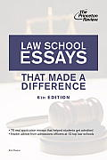 Law School Essays That Made a Difference (Graduate School Admissions Guides)