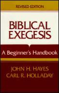 Biblical Exegesis A Beginners Handbook