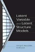 Latent Variable & Latent Structure Models