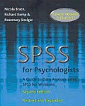 SPSS for Psychologists 2nd Ed