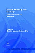 Human Learning and Memory: Advances in Theory and Applications: The 4th Tsukuba International Conference on Memory