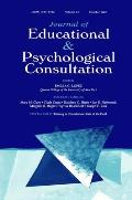 Training in Consultation: State of the Field: A Special Double Issue of Journal of Educational and Psychological Consultation