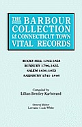 The Barbour Collection of Connecticut Town Vital Records. Volume 37: Rocky Hill 1765-1854, Roxbury 1796-1835, Salem 1836-1852, Salisbury 1741-1846