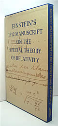 Einstein's 1912 Manuscript on the Special Theory of Relativity 1ST Edition