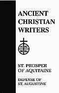 St. Prosper of Aquitaine, Defense of St. Augustine