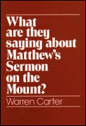 What Are They Saying about Matthew's Sermon on the Mount?
