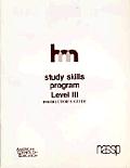 Level III: Teacher's Guide: Hm Learning & Study Skills Program