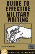 Guide to Effective Military Writing (Guide to Effective Military Writing)