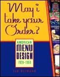 May I Take Your Order American Menu Design